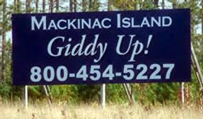 Billboard in northern Michigan