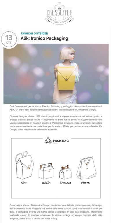 Alik: Ironico Packaging