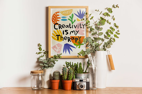 """Stampa digitale """"Creativity is my therapy"""""""