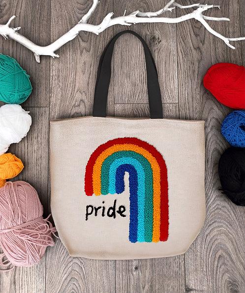 """Shopping bag con ricamo """"Pride"""""""