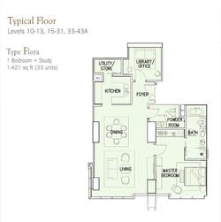 Ritz Carlton Type Flora 1 Bedroom and study.jpg