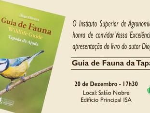 """Lançamento do Livro """"Guia de Fauna da Tapada da Ajuda"""""""