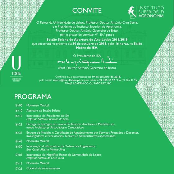 Sessão Solene de Abertura do Ano Letivo 2018/2019