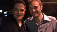 """With Chris Thile, recording """"Life from Here"""" at Davies Symphony Hall"""
