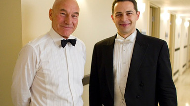 "With Sir Patrick Stewart: ""resistance is futile!"""
