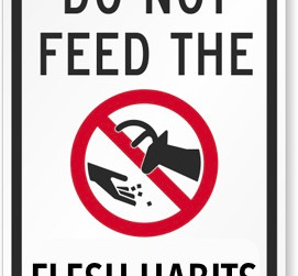 Do not feed the flesh habits