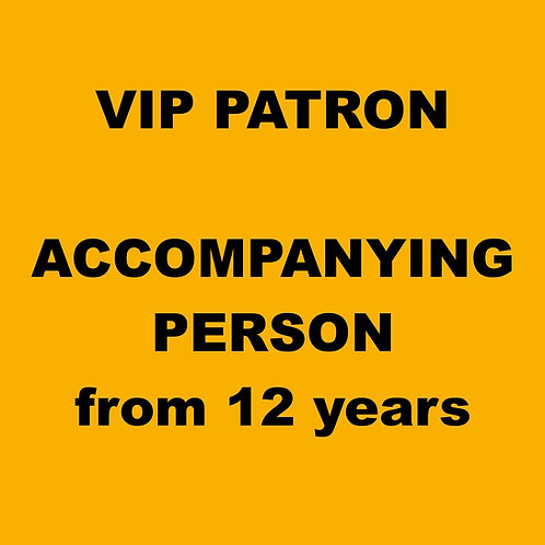 PASSIVE PARTICIPANT - Accompanying person (from 12 years)
