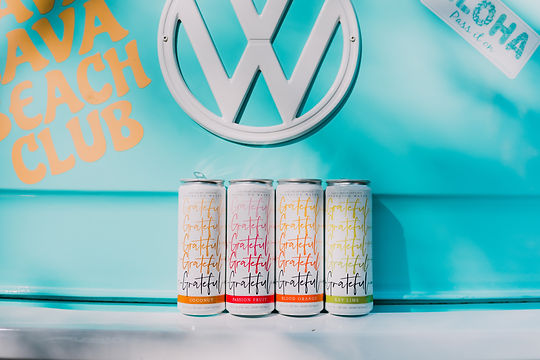 Grateful Water CBD waer cans