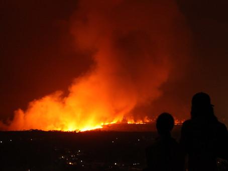 Fires threatens Coolum