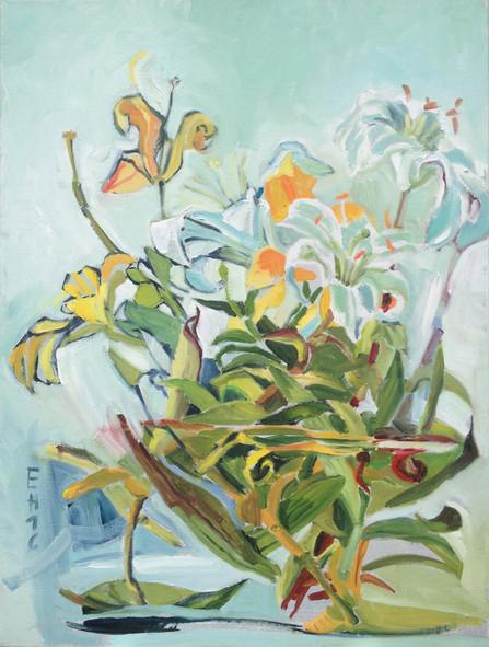 Lilien weißgelb