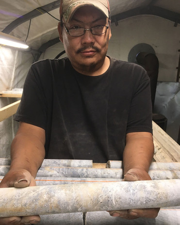 High grade drill core sample