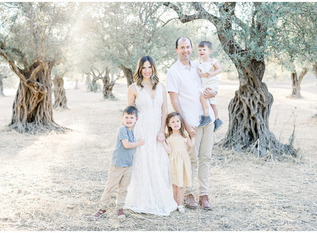 Family Session in the Olive Groves | Northern Virginia Family Photographer