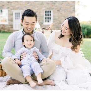 Late Summer Family Picnic | Washington DC Maternity and Newborn Photographer