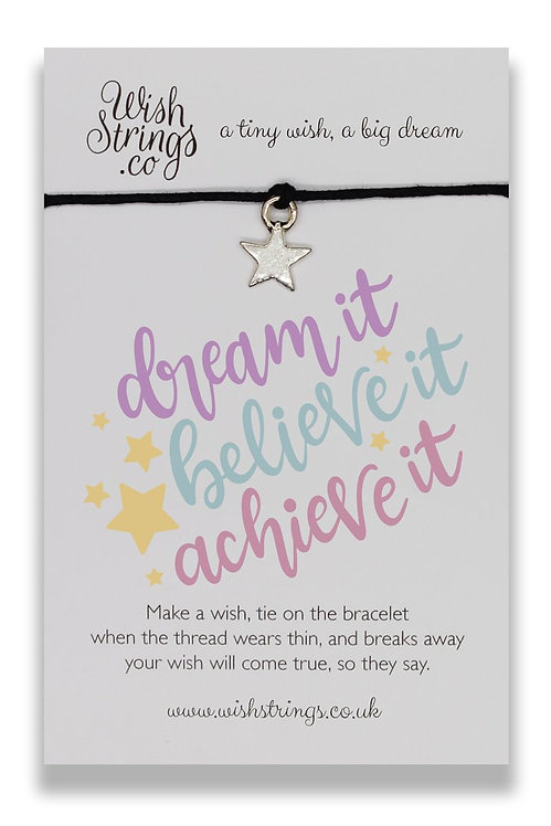 Dream, Believe, Achieve Wish Bracelet