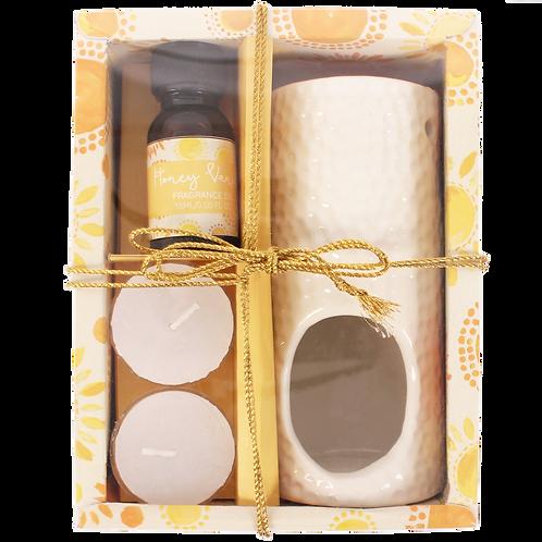 Happiness Oil Burner Gift Set