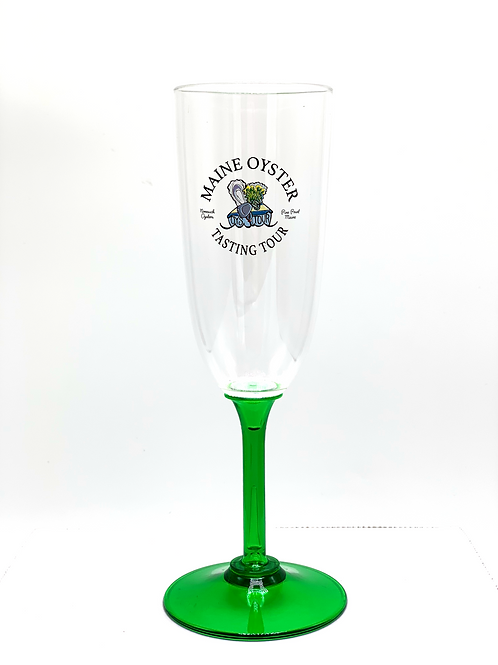 Plastic Maine Oyster Tasting Tour Champagne Flute