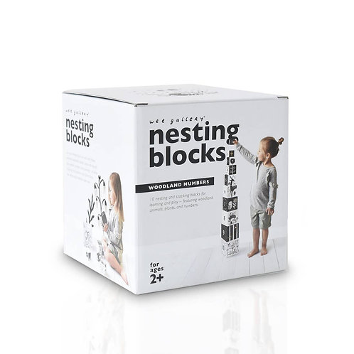 Woodland Numbers Nesting Blocks by Wee Gallery