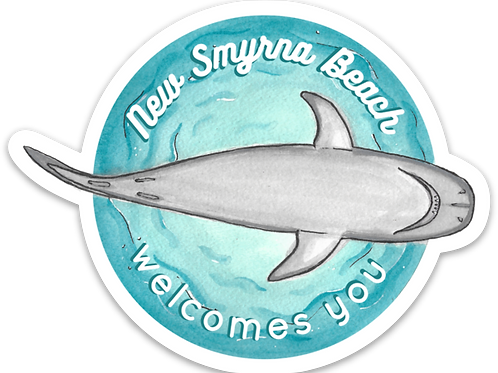 New Smyrna Beach Welcomes You Sticker by Jelly Press