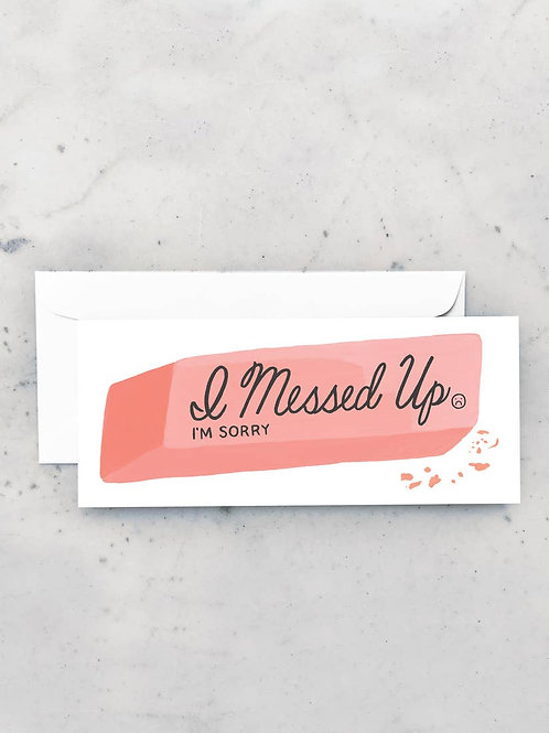 Oops Eraser Card by Idlewild