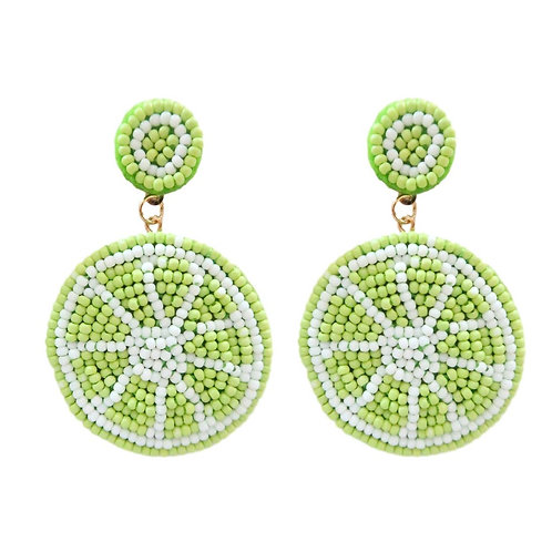Lime Drop Earrings by St. Armands Designs of Sarasota