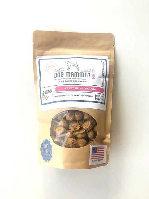 Peanut Butter Banana MINI Oven Baked Treats by Dog Mama's