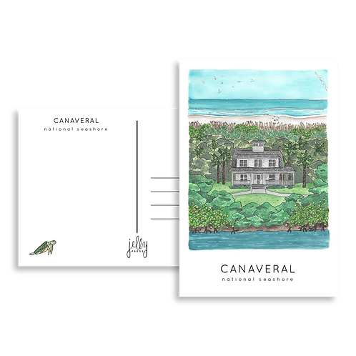Canaveral National Seashore Postcard by Jelly Press