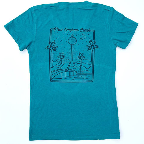 New Smyrna Beach Water Tower Women's T-Shirt