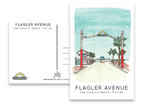 Flagler Avenue Postcard by Jelly Press