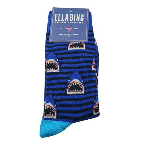 Shark Ella Bing Haberdashery Crew Socks