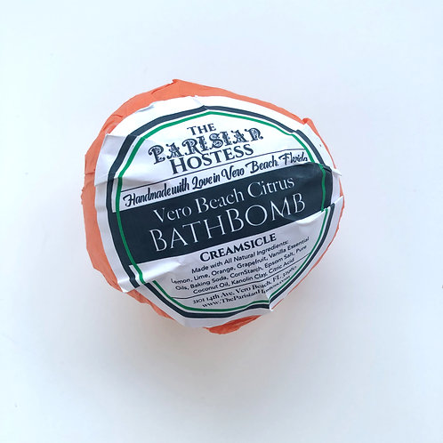 Creamsicle Citrus Bath Bomb by The Parisian Hostess