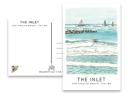 The Inlet Postcard by Jelly Press