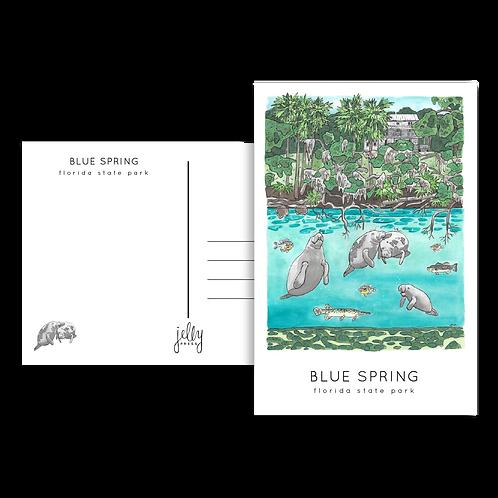 Blue Spring Postcard by Jelly Press