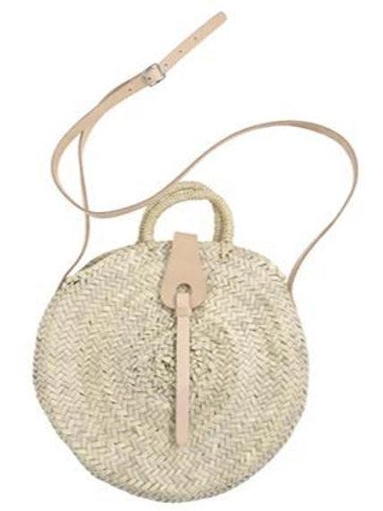 Round Straw Bag by Lar Living