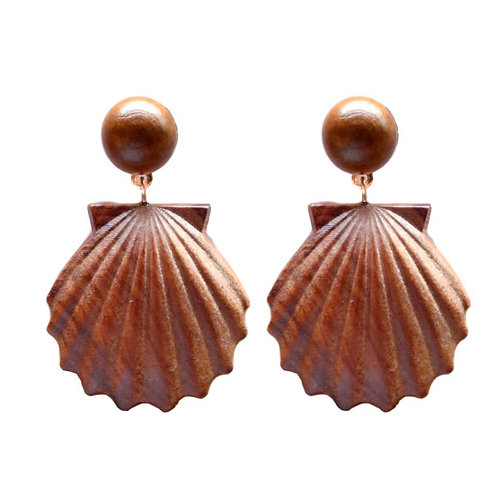 Wooden Shell Drops by St. Armands Designs of Sarasota
