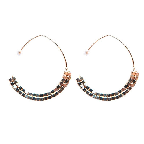 Gold Beaded Threaders Earrings by St. Armands Designs of Sarasota
