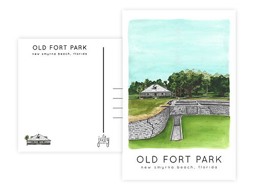 Old Fort Park Postcard by Jelly Press