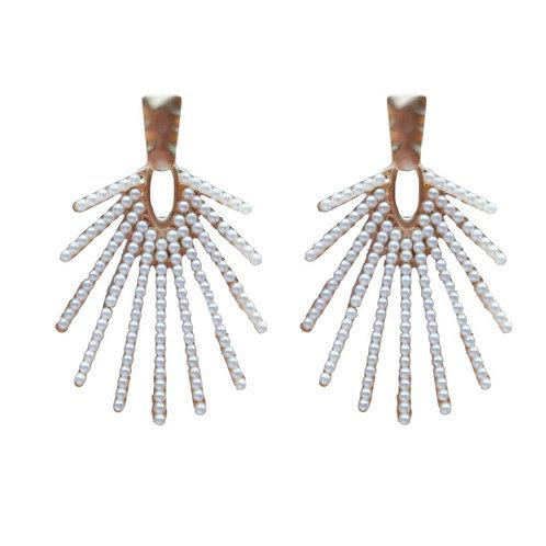 Sunburst Pearl Drop Earrings by St. Armands Designs of Sarasota