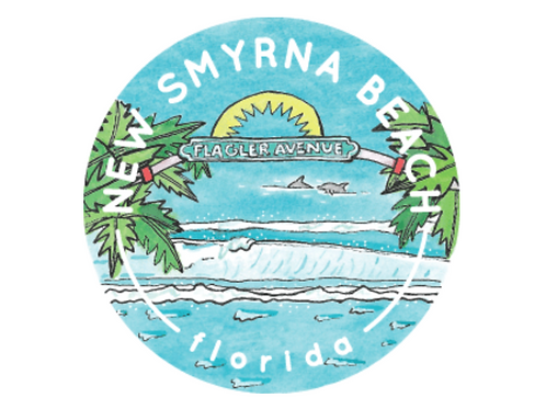 New Smyrna Beach Travel Sticker by Jelly Press