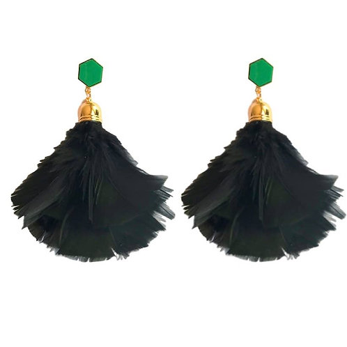 Feather Tassel Earrings by St. Armands Designs of Sarasota
