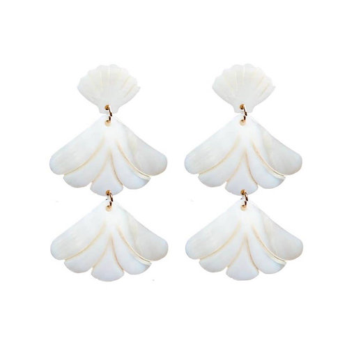 Mother of Pearl Shell Drop Earrings by St. Armands Designs of Sarasota