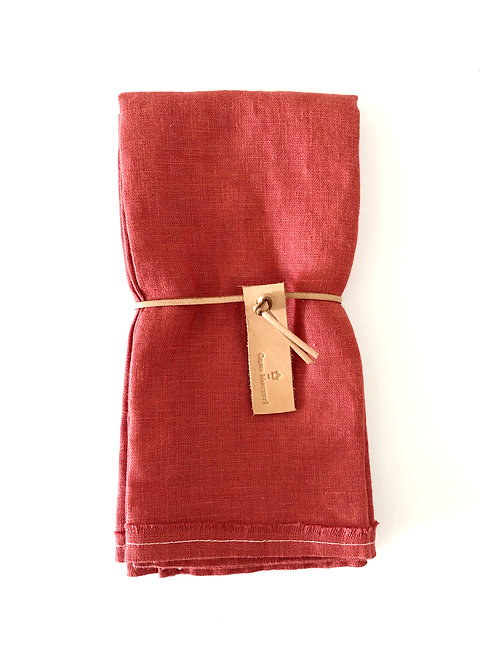 English Rose Linen Napkins (Set of 2) by Celina Mancurti