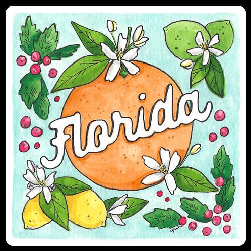 Florida Flora Sticker by Jelly Press