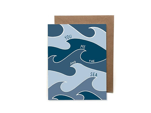 You Me and the Sea Notecard by HeartSwell