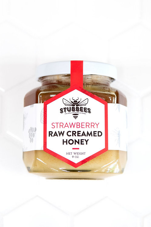 Strawberry Whipped Raw Honey by Stubbees