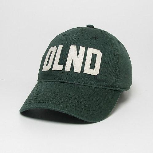 Dark Green DeLand Stitched Felt Classic Hat