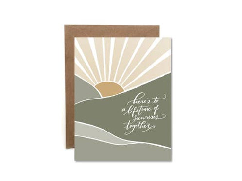Lifetime of Sunrises Together Notecard by HeartSwell