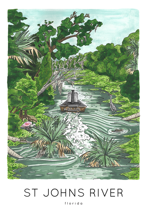 St Johns River Print by Jelly Press