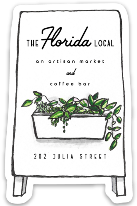 The Florida Local Sandwich Board Sticker