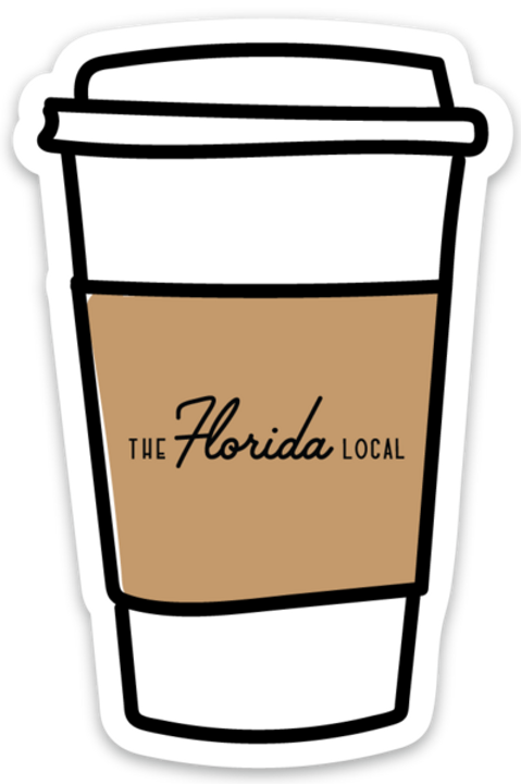 The Florida Local Coffee Sticker