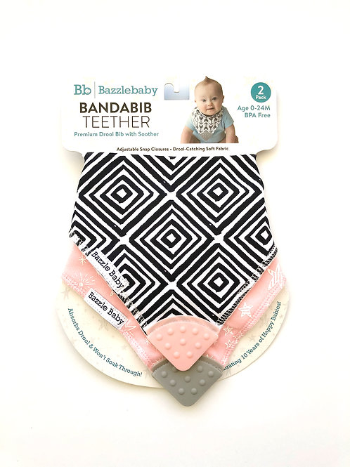 Banda Bib Teether 2-Pack by Bazzle Baby